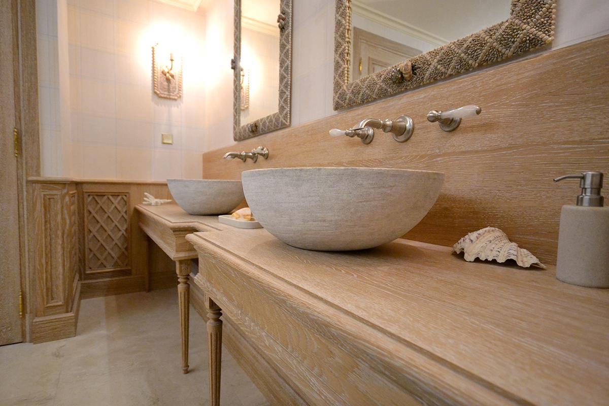 meuble de salle de bain cérusés